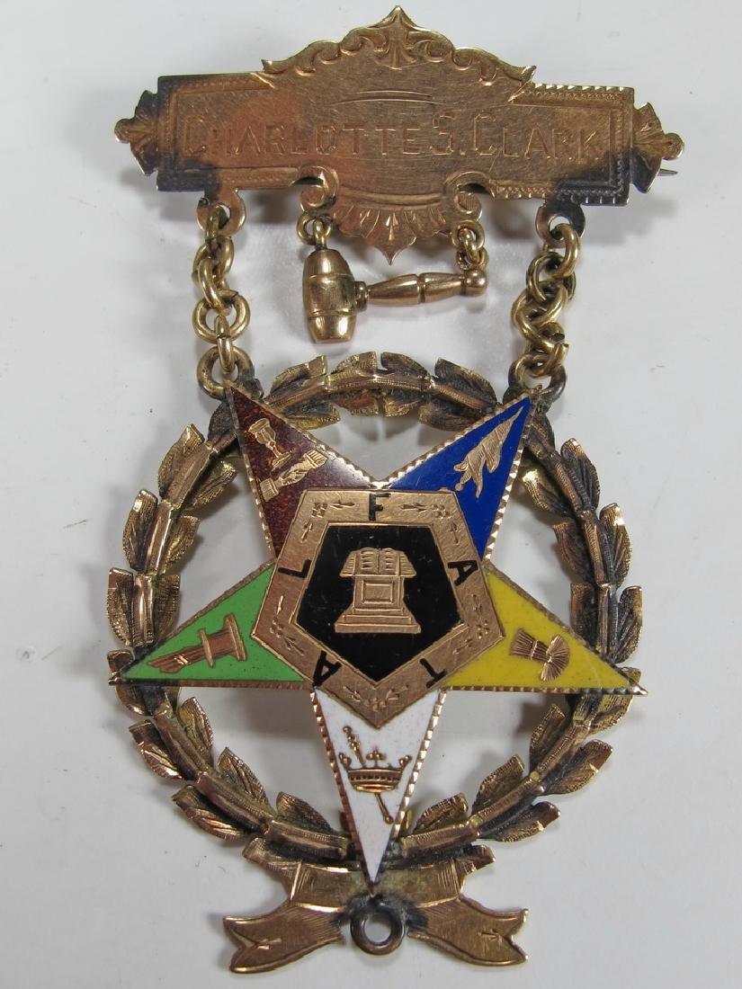 Antique Masonic Order of the Eastern Star jewel