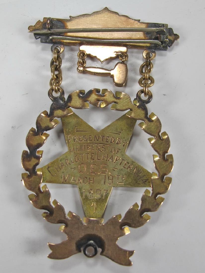 Antique Masonic Order of the Eastern Star jewel - 4