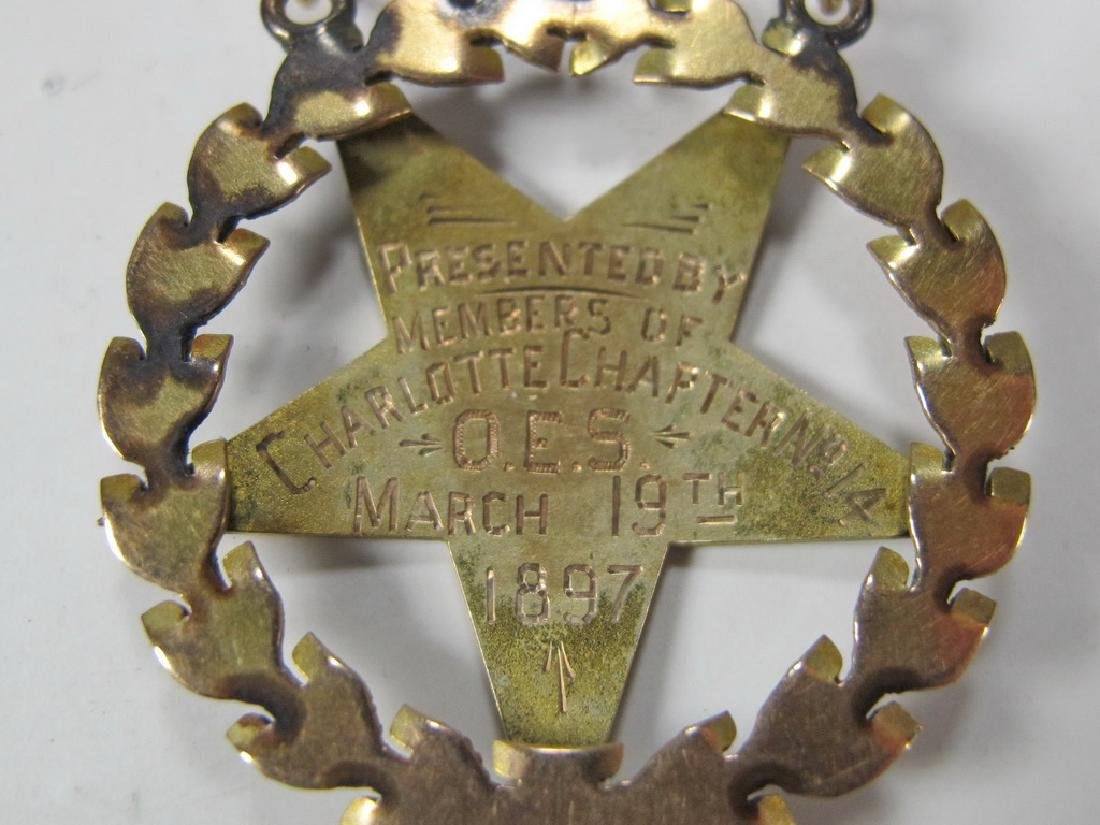 Antique Masonic Order of the Eastern Star jewel - 5