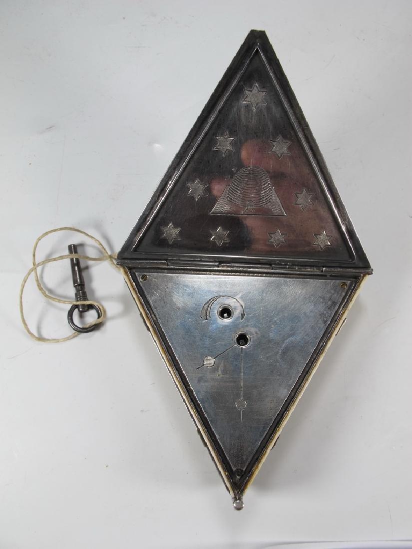 Antique Masonic Wm. Jacob pocket watch - 10