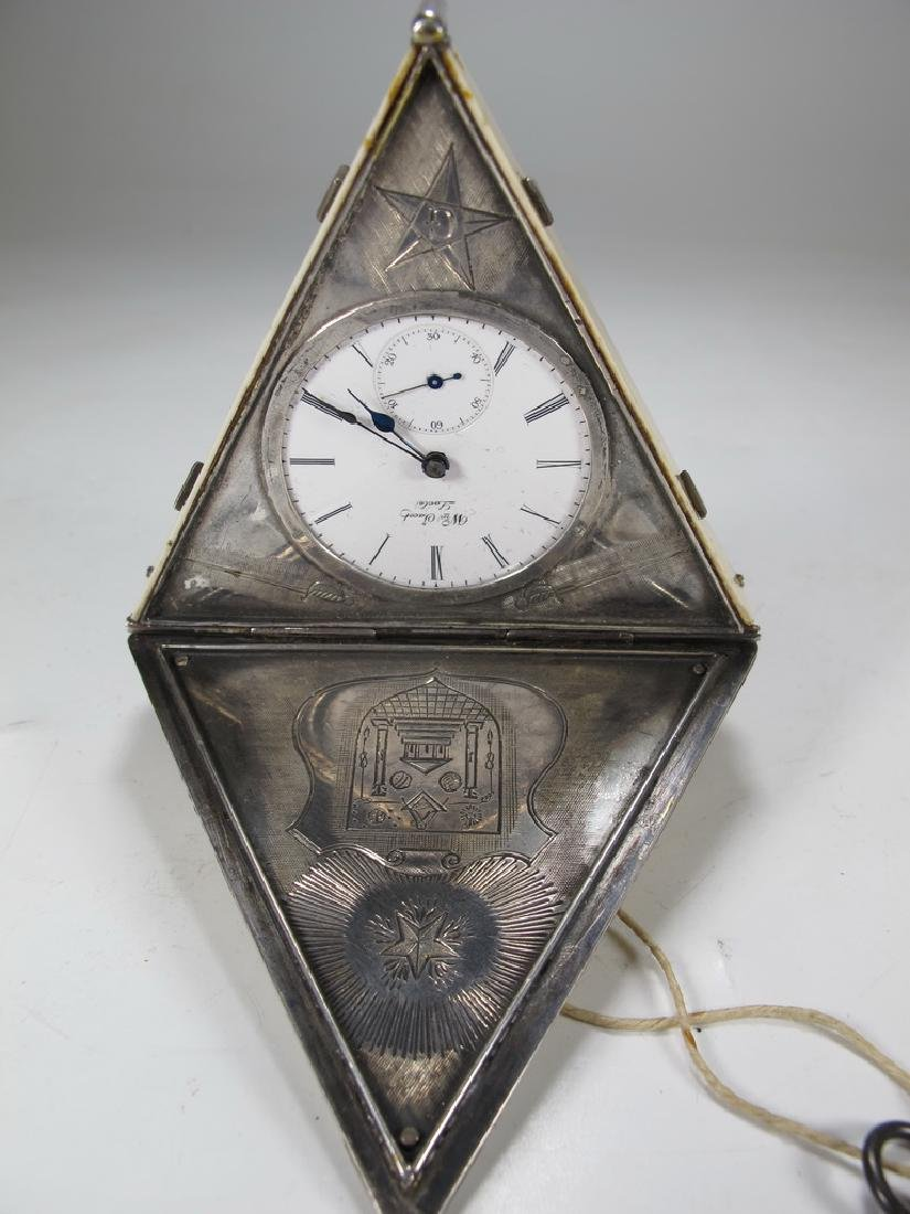 Antique Masonic Wm. Jacob pocket watch - 5