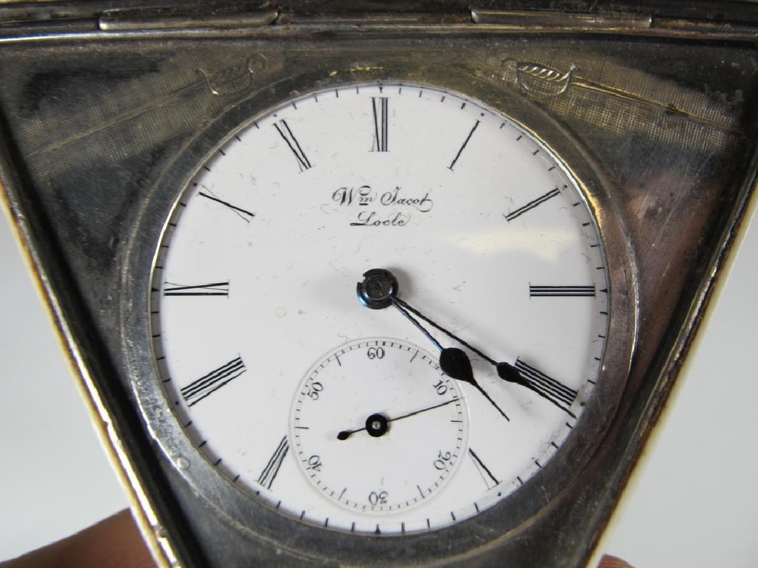Antique Masonic Wm. Jacob pocket watch - 8