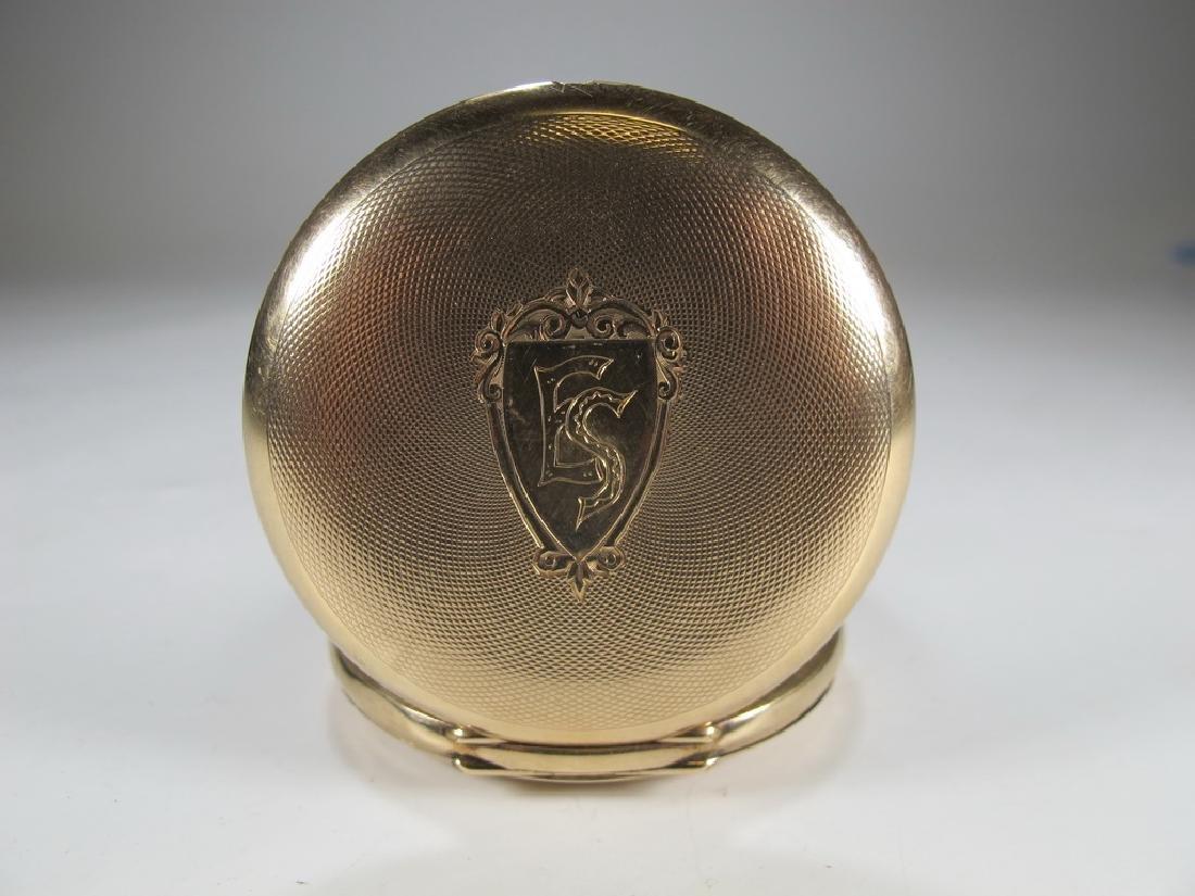 Vintage Masonic 14 k gold case pocket watch - 2