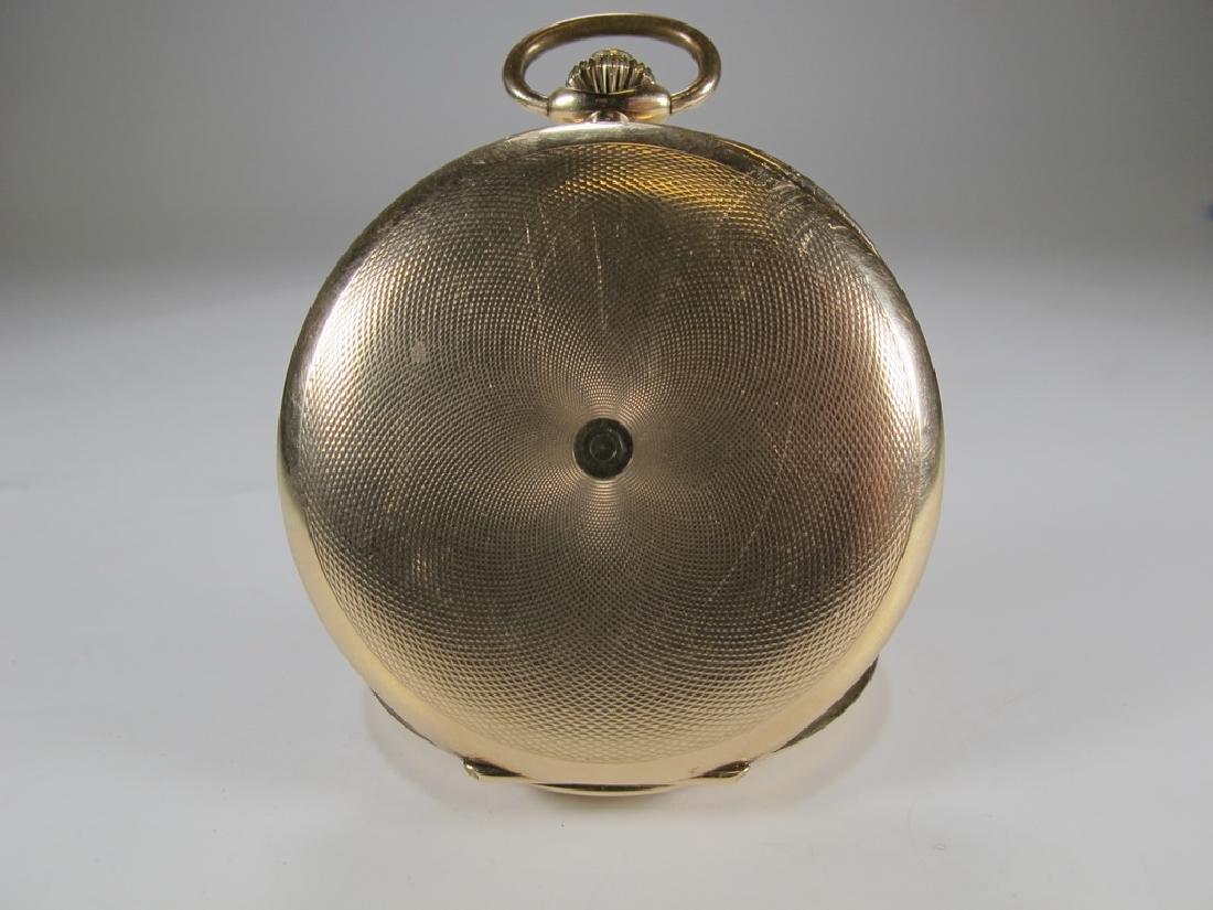 Vintage Masonic 14 k gold case pocket watch - 4
