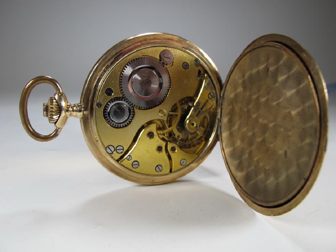 Vintage Masonic 14 k gold case pocket watch - 5