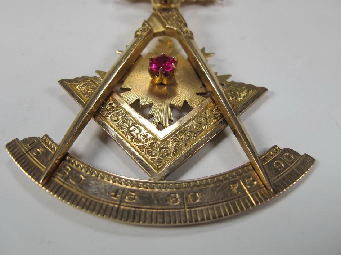 Antique Masonic 9 kt / 10 kt gold breast jewel - 4