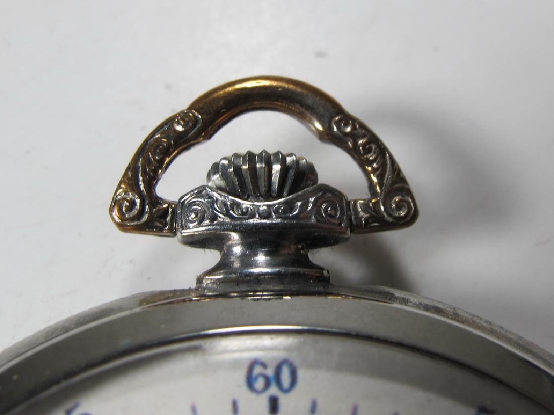 Vintage Masonic unbranded metal pocket watch - 2