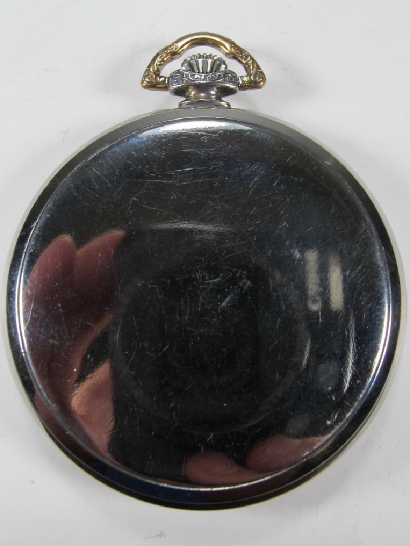 Vintage Masonic unbranded metal pocket watch - 3