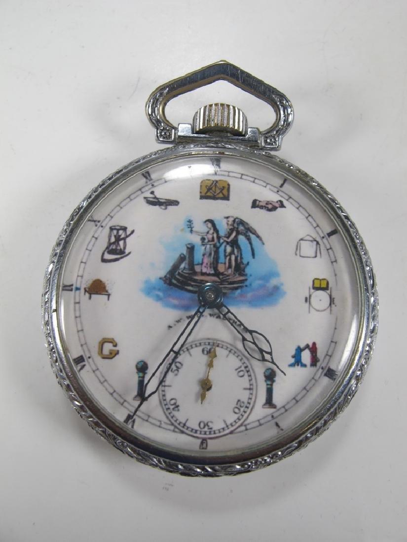 Vintage Waltham Masonic 15 jewels pocket watch