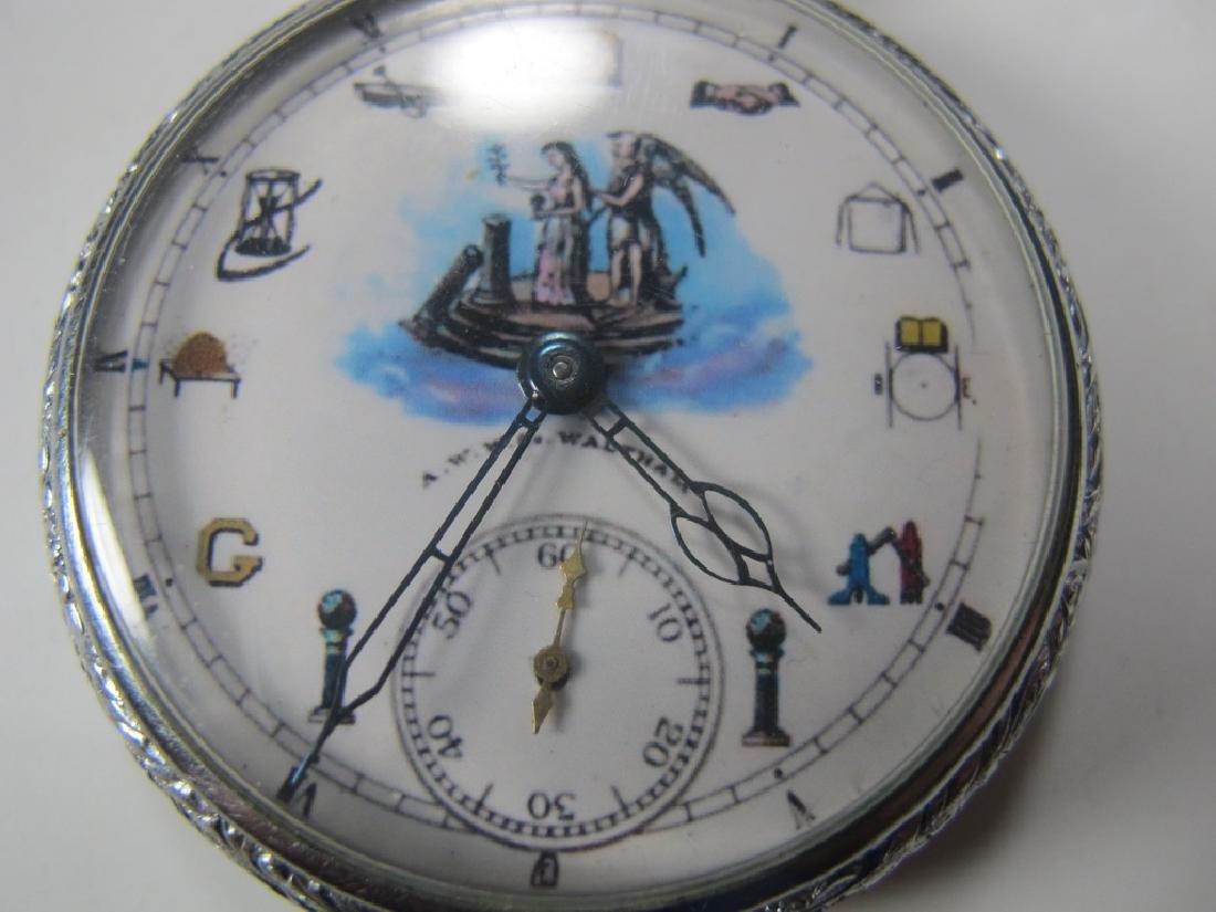 Vintage Waltham Masonic 15 jewels pocket watch - 2