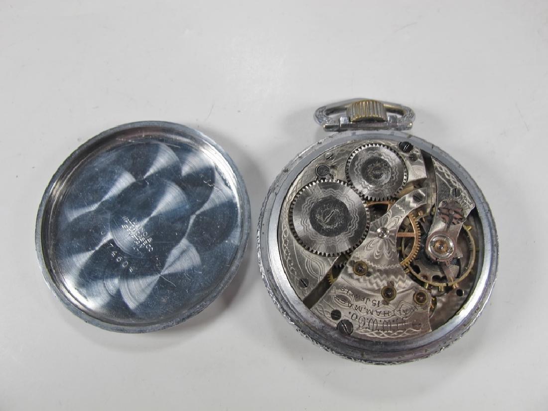 Vintage Waltham Masonic 15 jewels pocket watch - 4