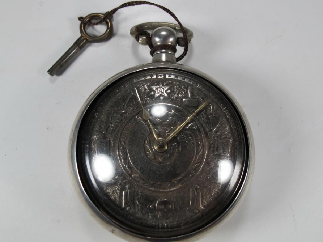 Vintage Masonic probably silver pocket watch
