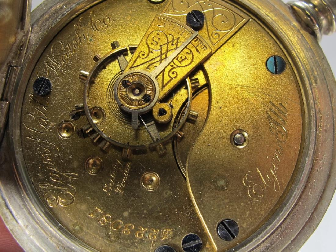 Vintage Elgin Masonic silveroid case pocket watch - 7