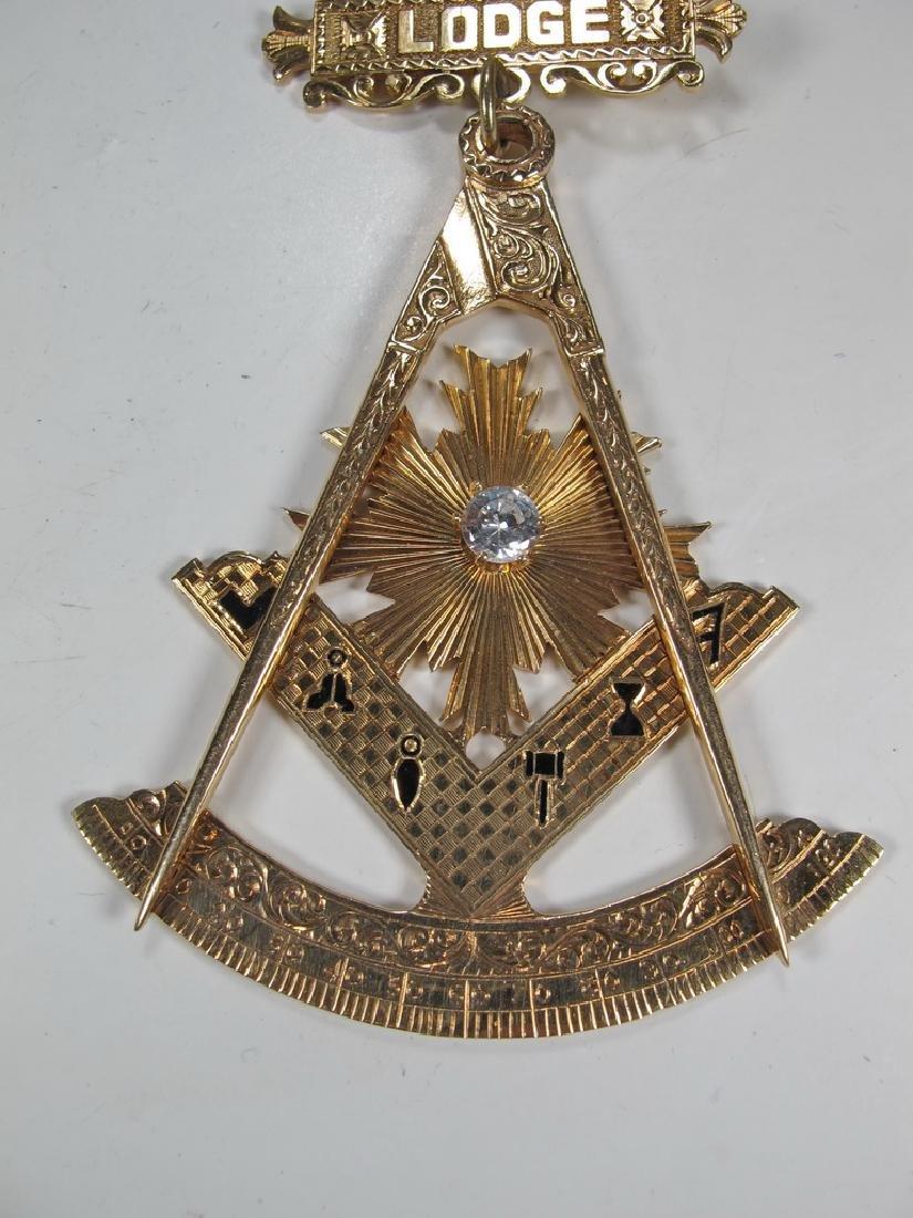 Vintage Masonic 14 kt gold Past Master jewel - 3