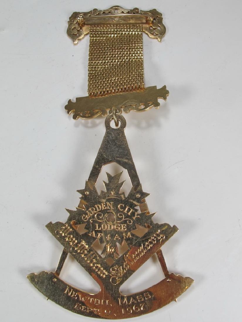 Vintage Masonic 14 kt gold Past Master jewel - 5