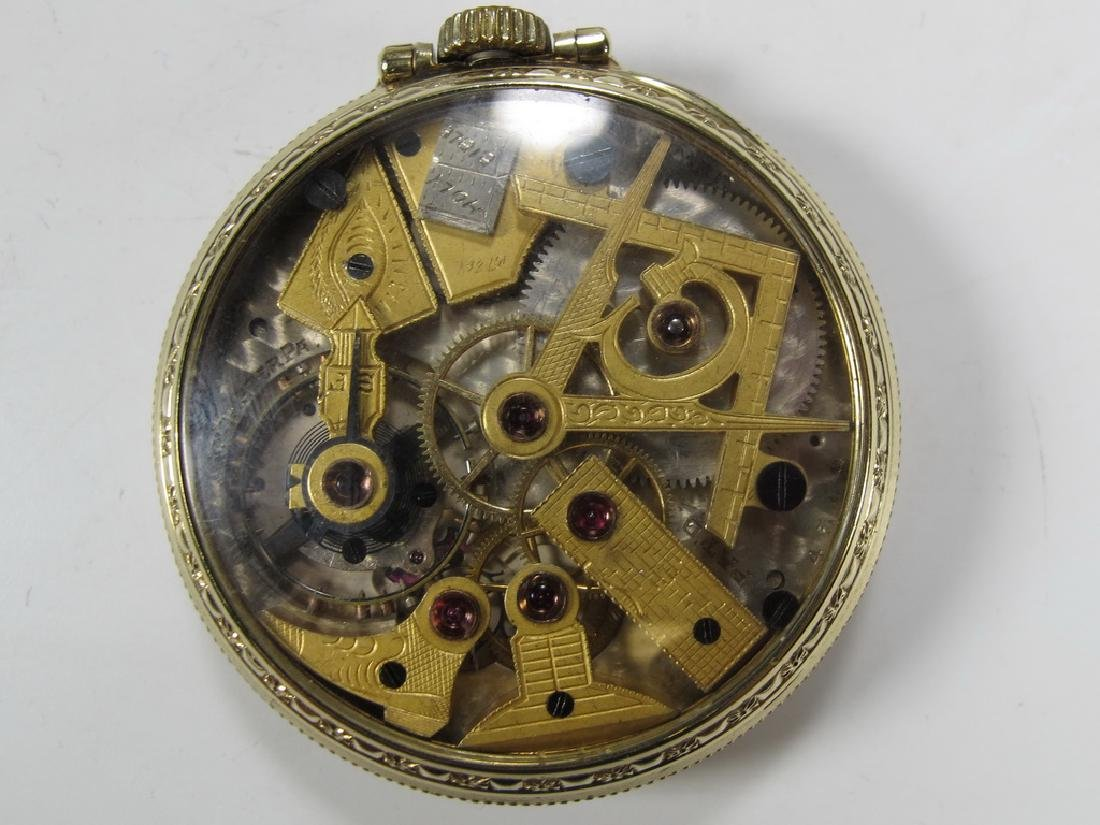 Vintage Dudley Masonic 19 jewels pocket watch - 3