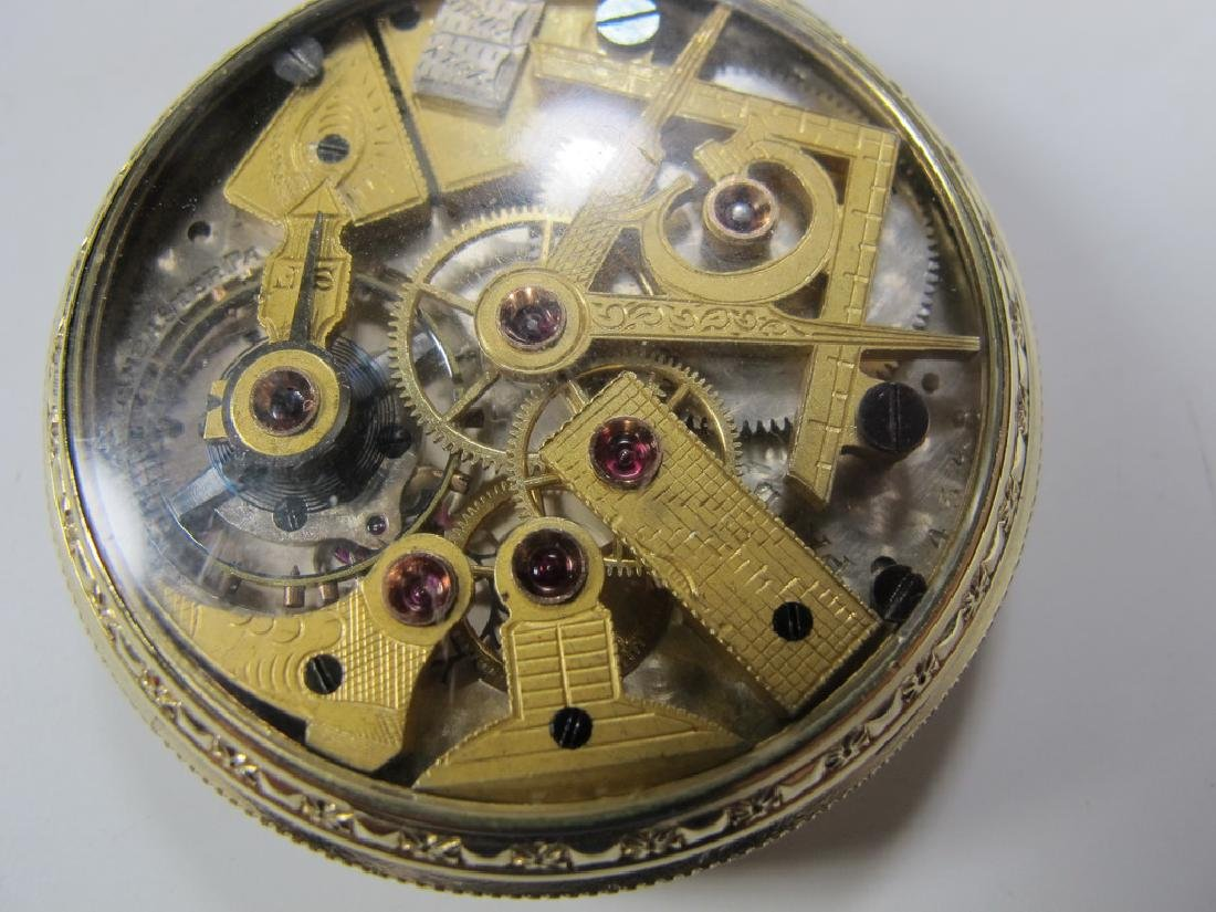 Vintage Dudley Masonic 19 jewels pocket watch - 5