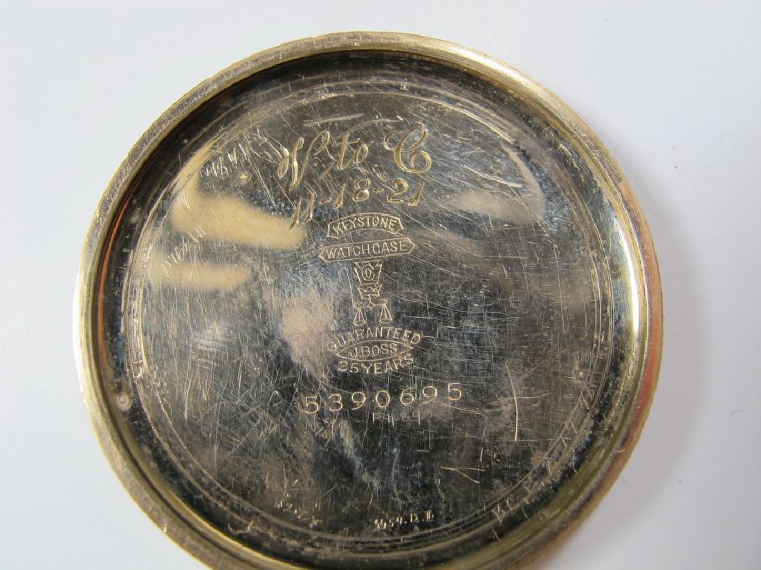 Vintage Elgin Masonic open face pocket watch - 5
