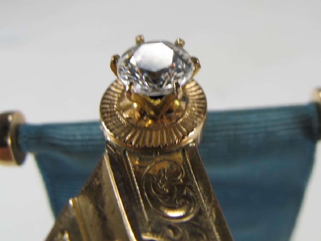 Antique Masonic 10 kt gold Past Master jewel - 4