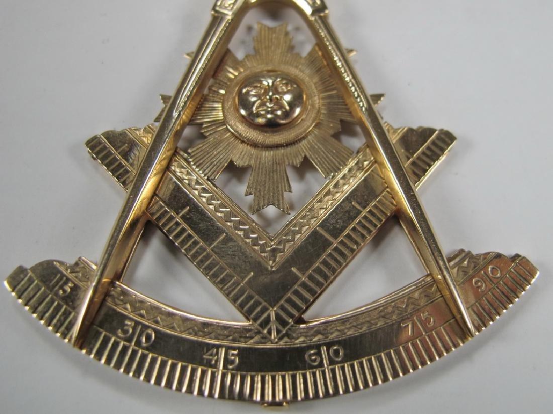 Antique Masonic 10 kt gold Past Master jewel - 5