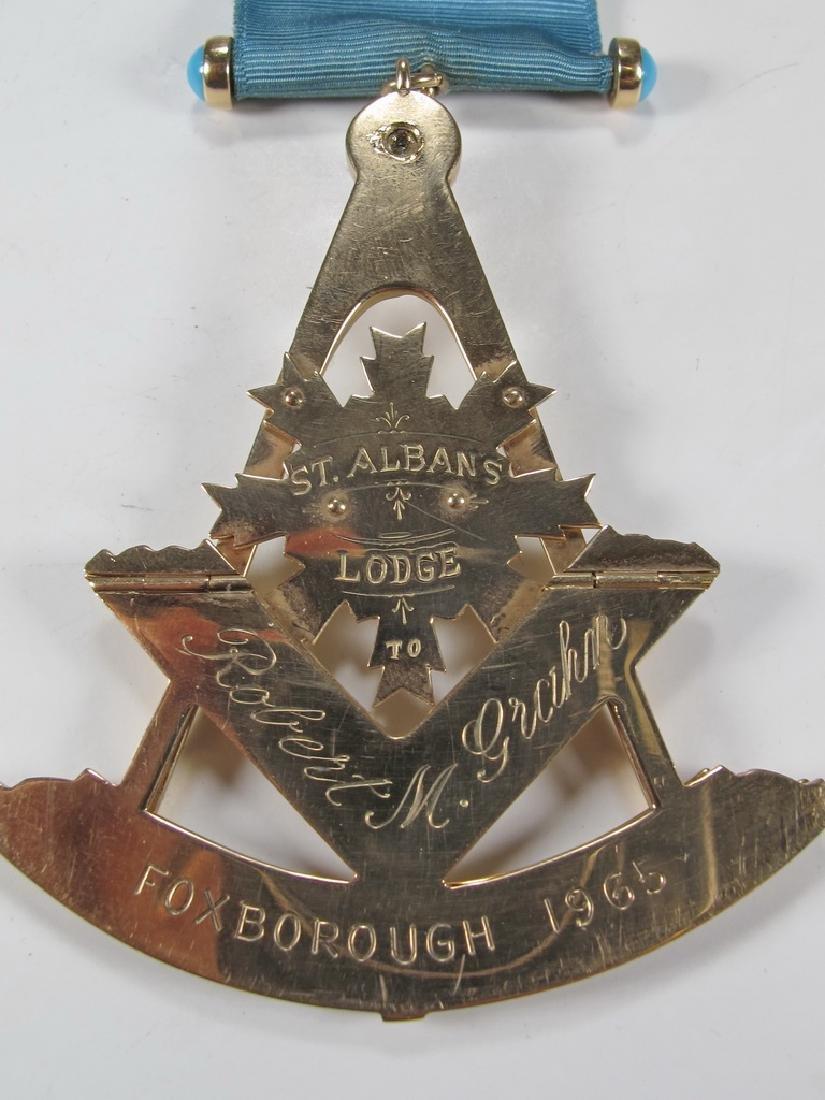 Antique Masonic 10 kt gold Past Master jewel - 6