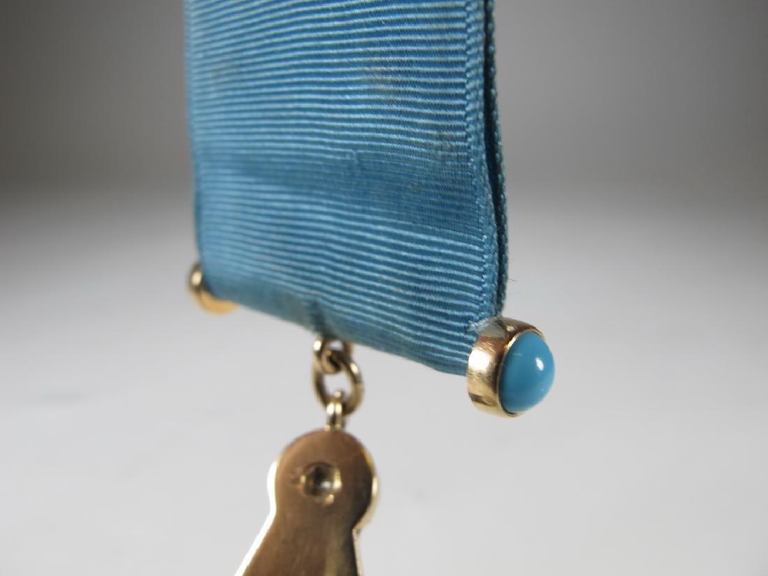 Antique Masonic 10 kt gold Past Master jewel - 7