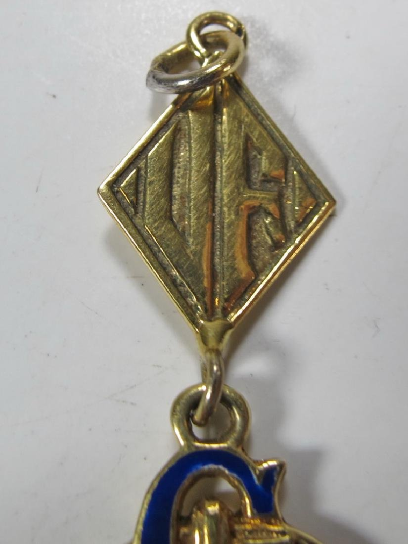 Vintage Masonic 14 kt gold Past Master jewel - 2