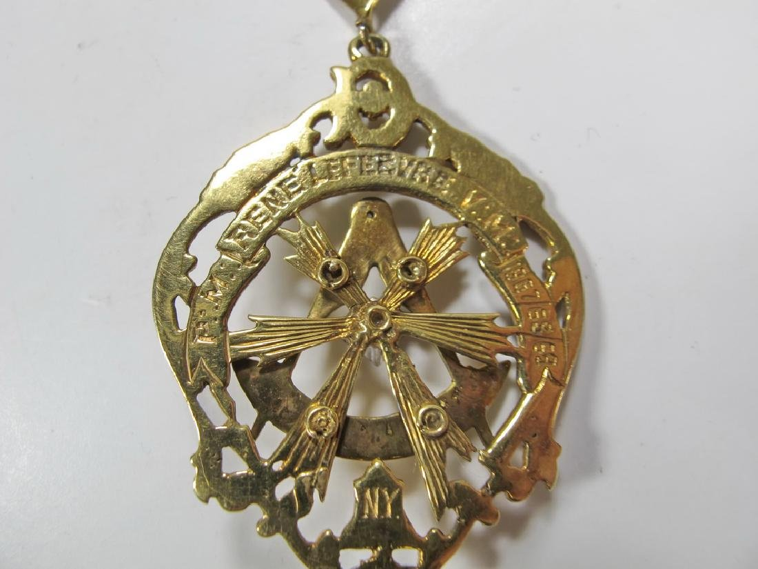 Vintage Masonic 14 kt gold Past Master jewel - 5