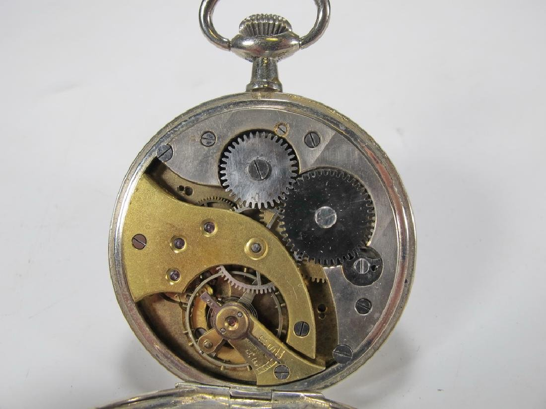 Vintage Masonic unbranded metal pocket watch - 3