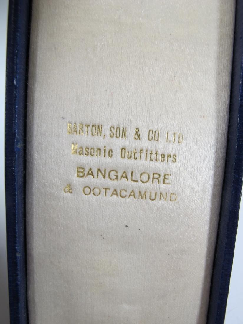 Antique Masonic 9 kt gold breast jewel - 4