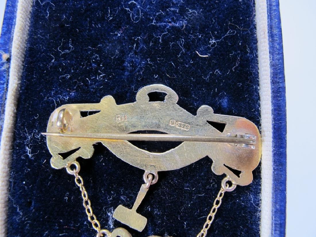 Antique Masonic 9 kt gold breast jewel - 7