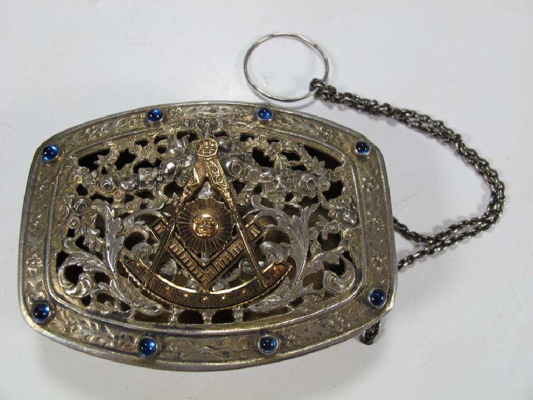 Antique Masonic German 800 silver box