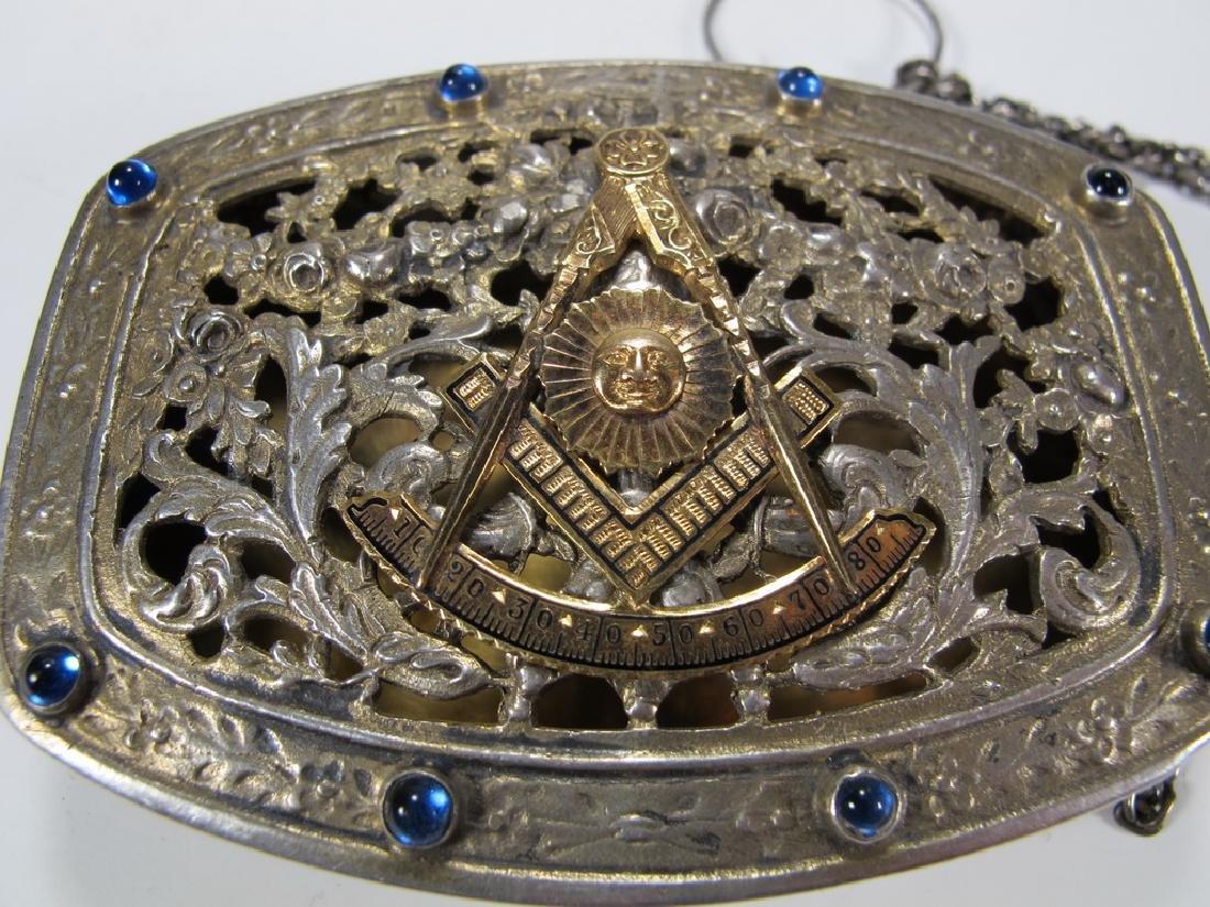 Antique Masonic German 800 silver box - 2