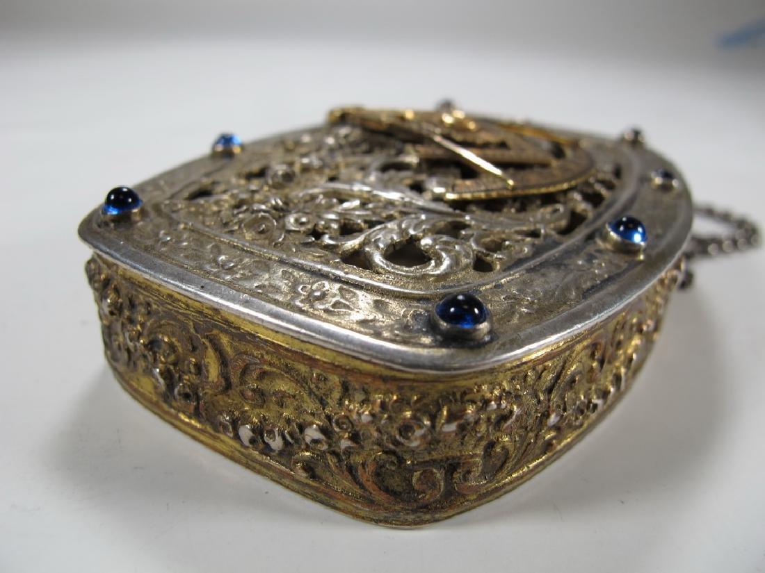 Antique Masonic German 800 silver box - 4