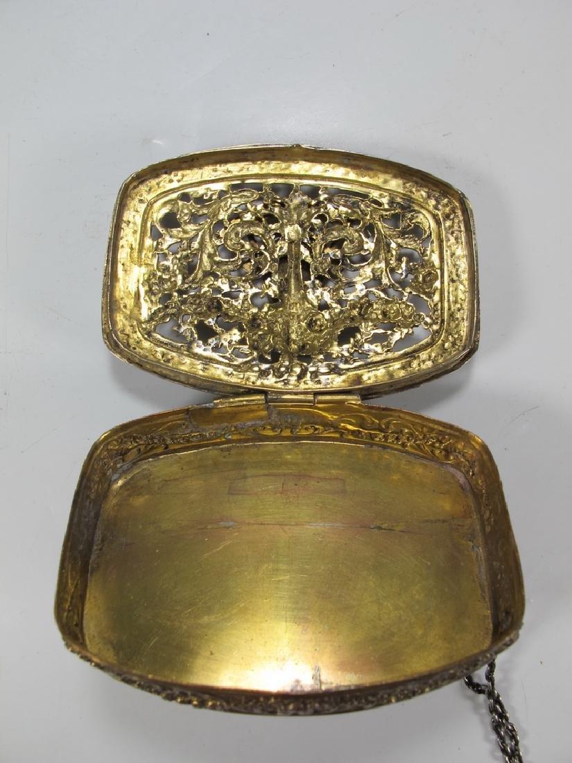 Antique Masonic German 800 silver box - 7