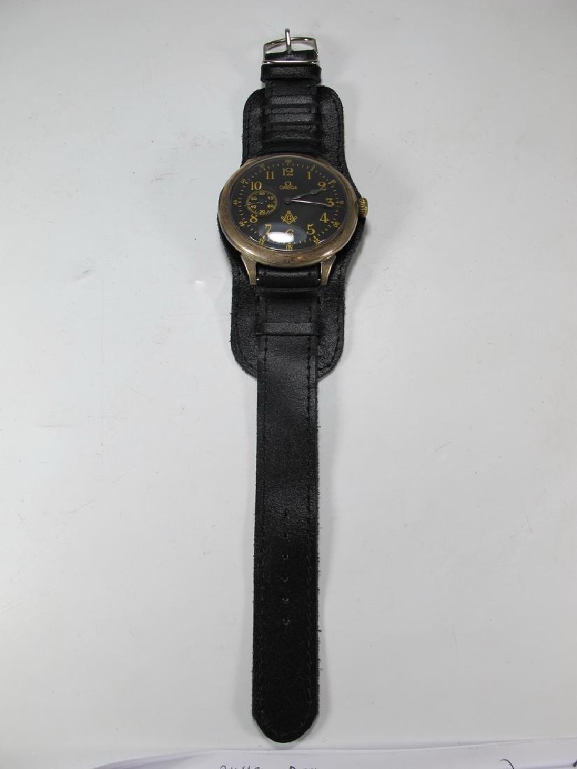 Antique Masonic Omega Grand Prix 1900 wrist watch - 2