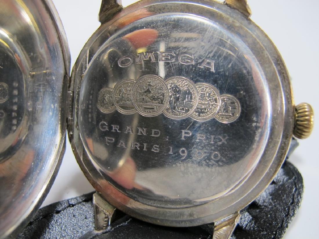 Antique Masonic Omega Grand Prix 1900 wrist watch - 5