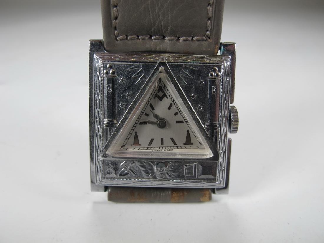 Vintage Masonic Swiss ladies triangular wirst watch
