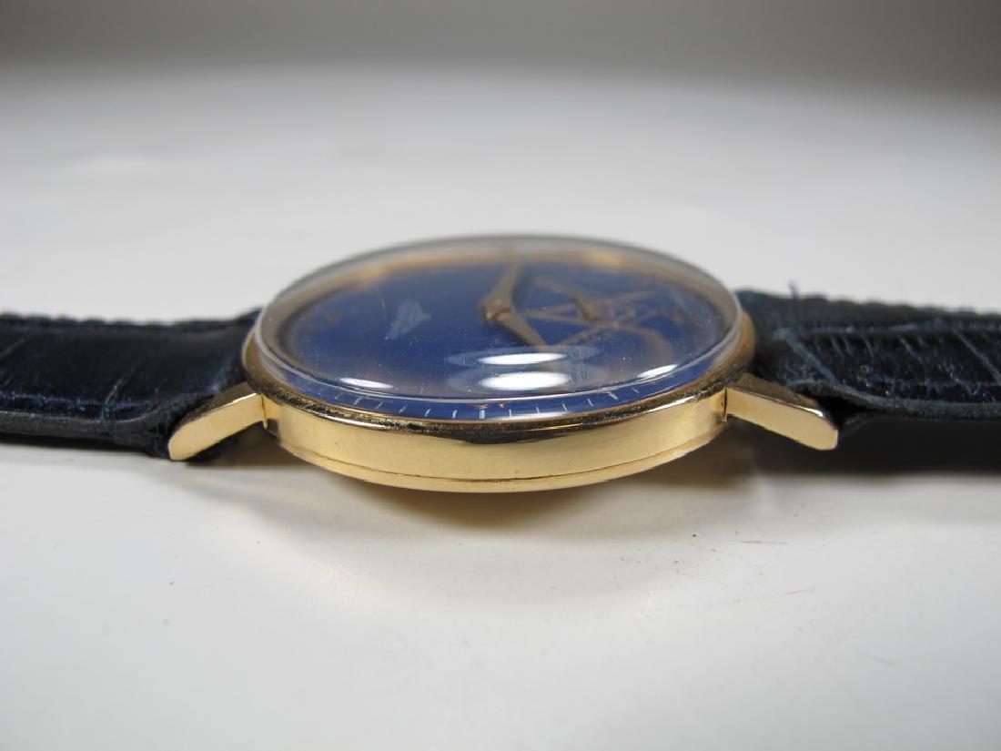 Vintage Masonic Longines 18k gold men's wrist watch - 4