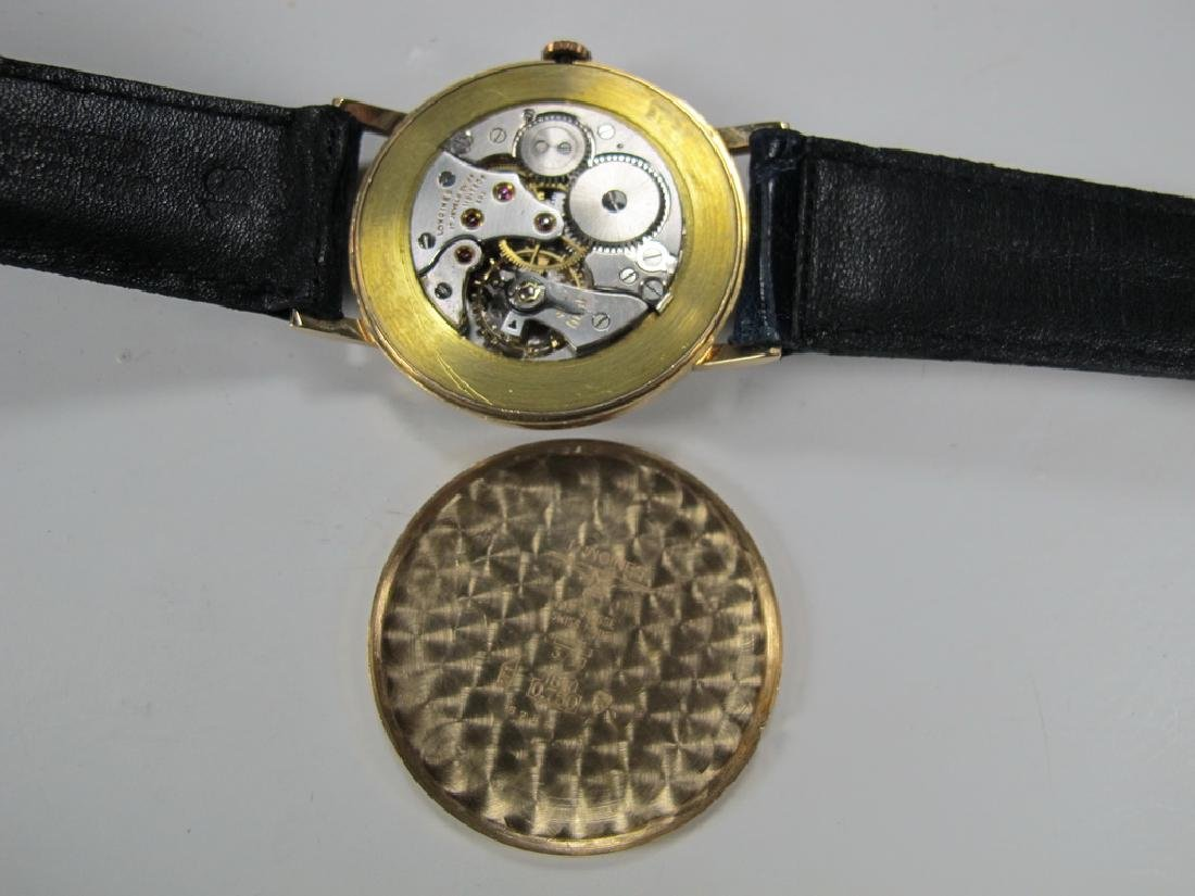 Vintage Masonic Longines 18k gold men's wrist watch - 5