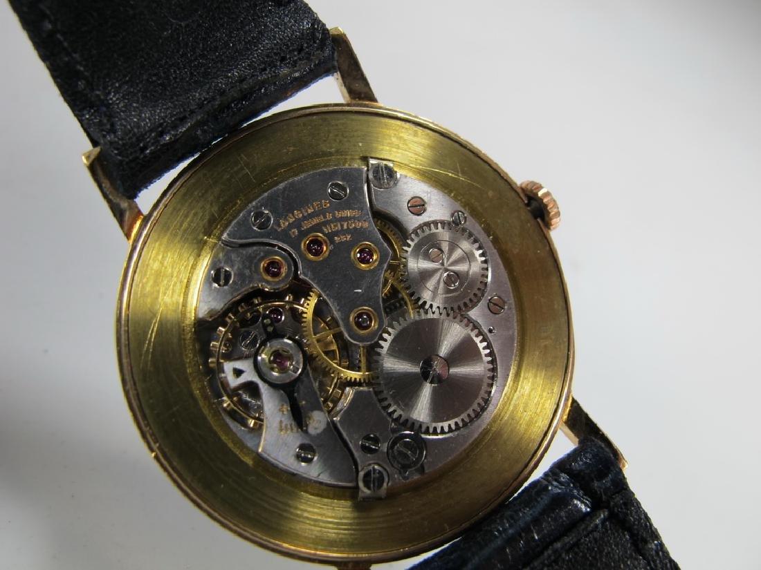 Vintage Masonic Longines 18k gold men's wrist watch - 6