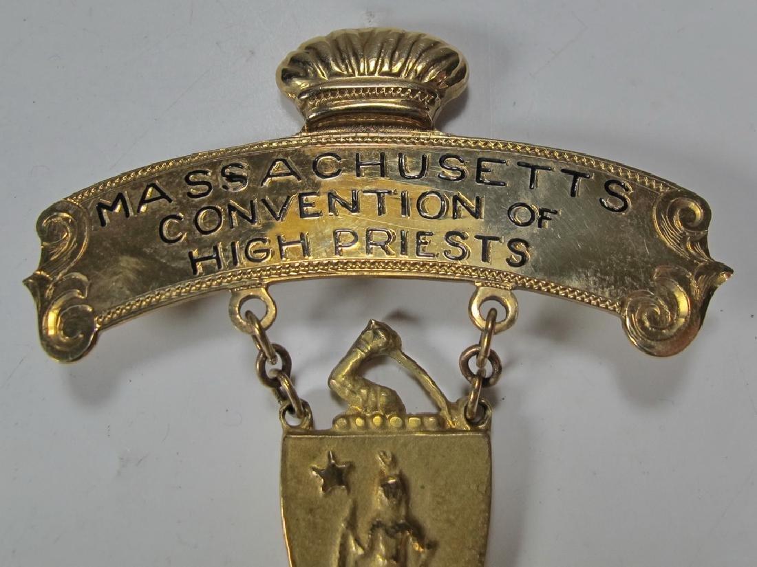 Masonic 9 k gold Past High Priest breast jewel - 2