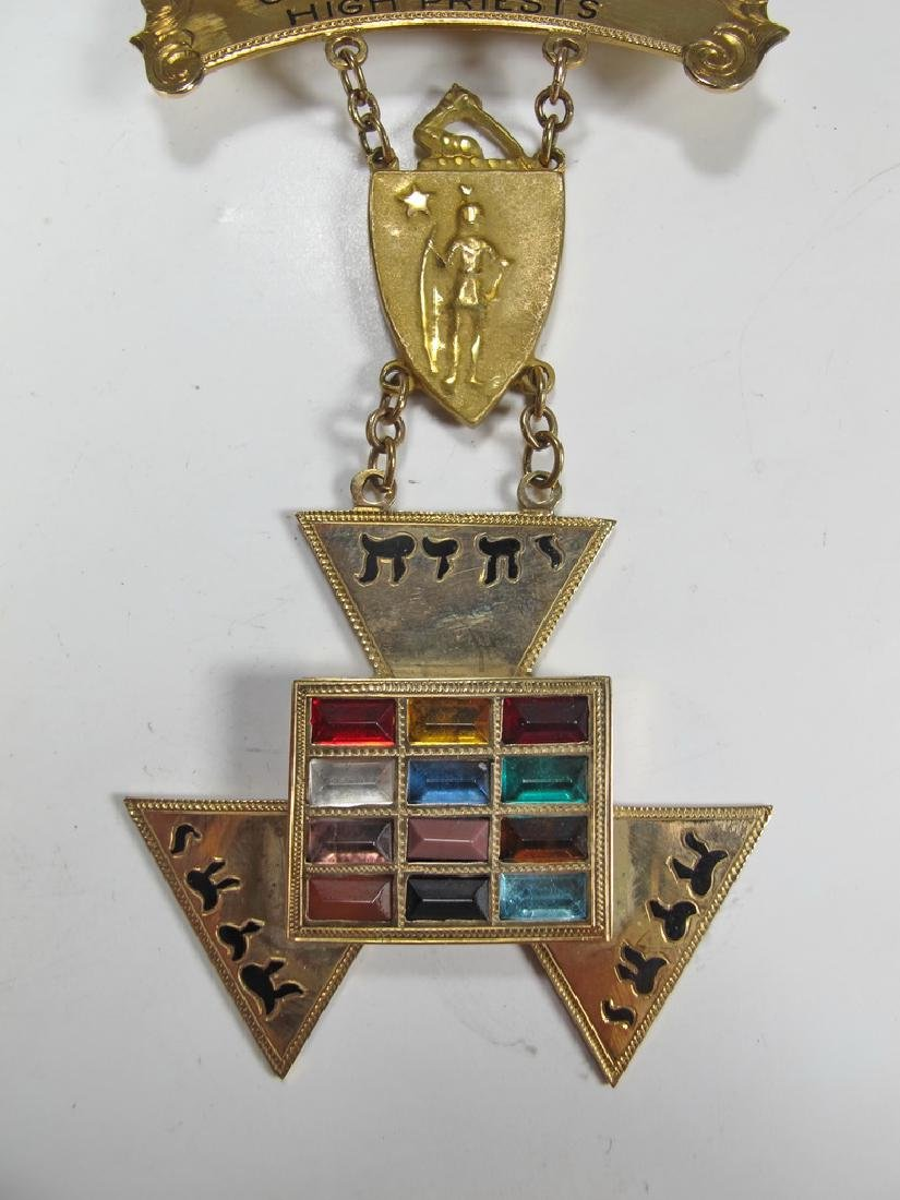 Masonic 9 k gold Past High Priest breast jewel - 3