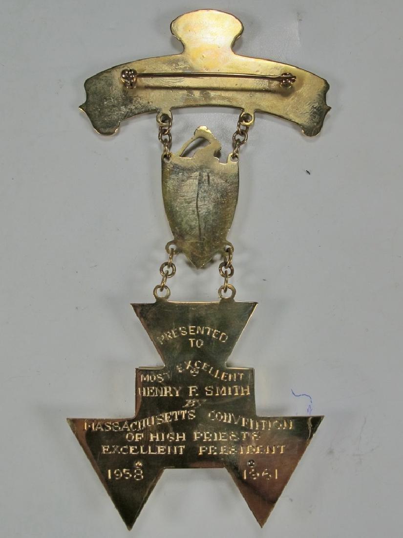 Masonic 9 k gold Past High Priest breast jewel - 4