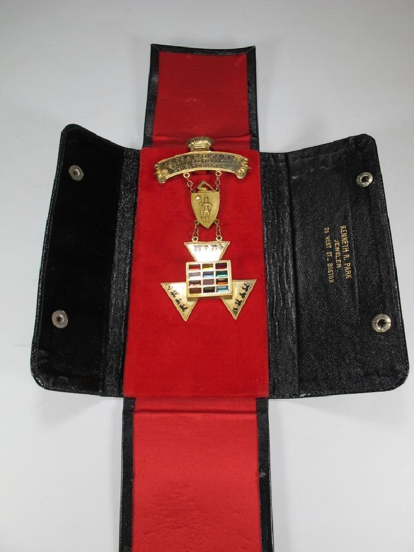 Masonic 9 k gold Past High Priest breast jewel - 6