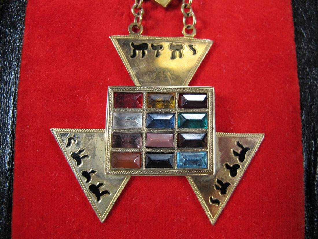 Masonic 9 k gold Past High Priest breast jewel - 7