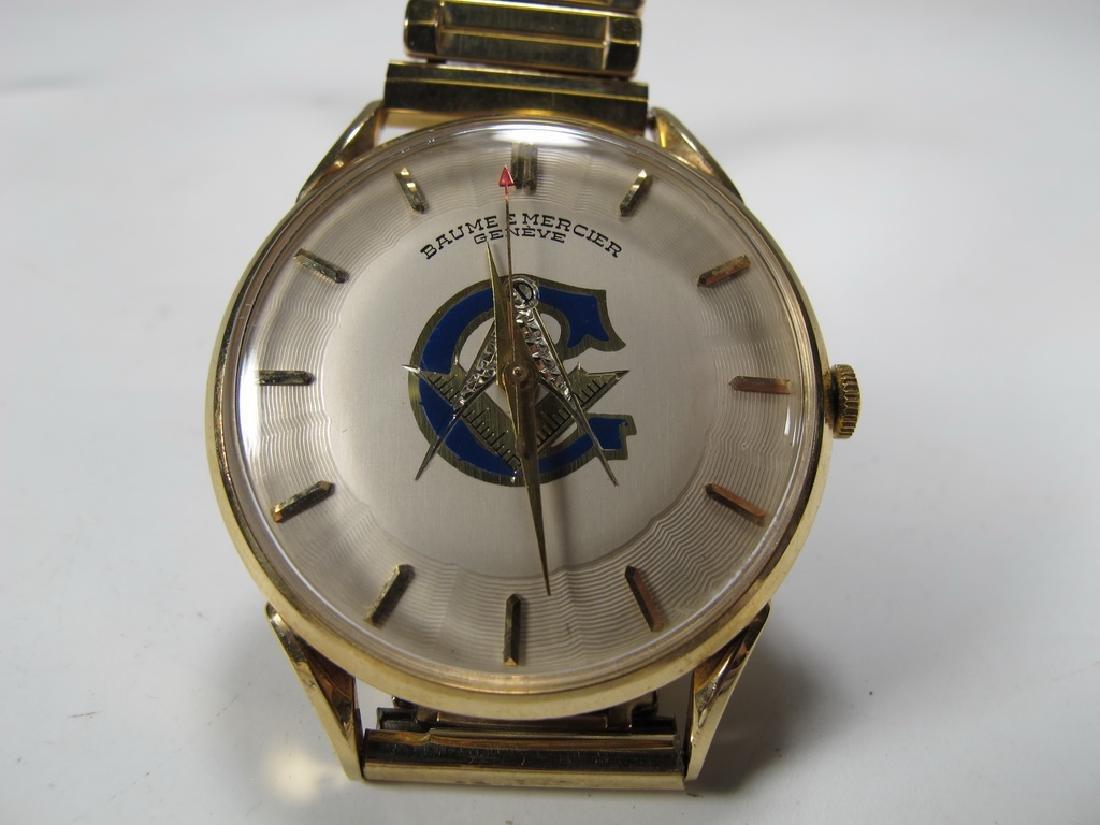 Vintage Masonic Baume & Mercier men's wrist watch