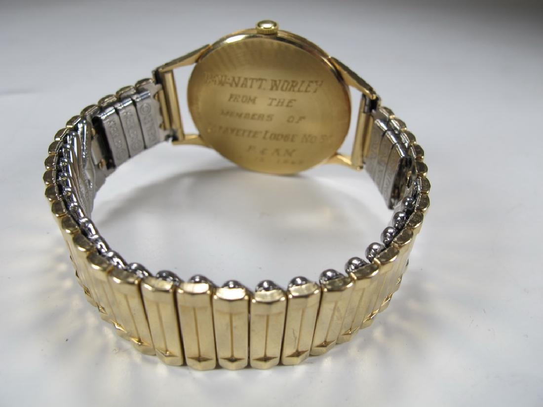 Vintage Masonic Baume & Mercier men's wrist watch - 3