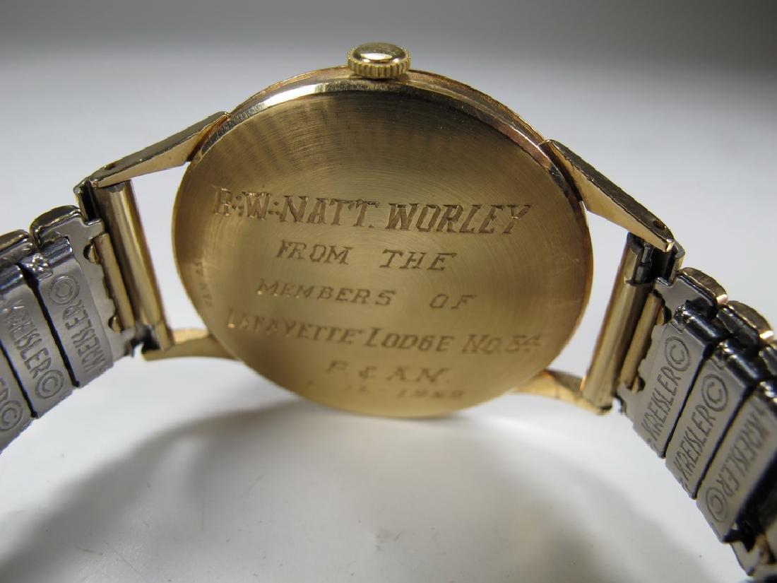 Vintage Masonic Baume & Mercier men's wrist watch - 4
