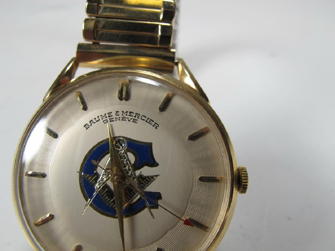 Vintage Masonic Baume & Mercier men's wrist watch - 6